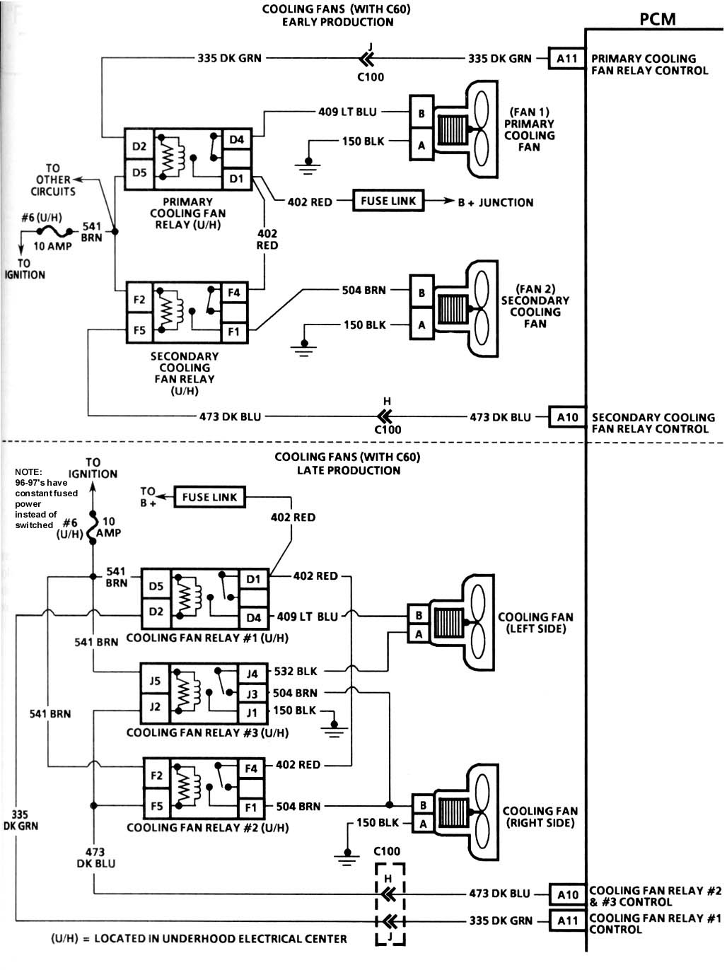 Cooling Fan Wiring Diagram 1995 Corvette 1999 Off That C4 Grumpys Performance Garage Rh Grumpysperformance Com Bulkhead 1993